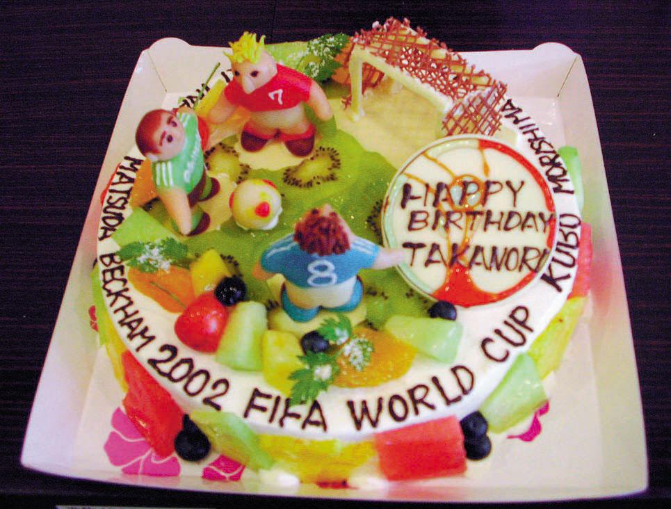 サッカーのバースデーケーキ