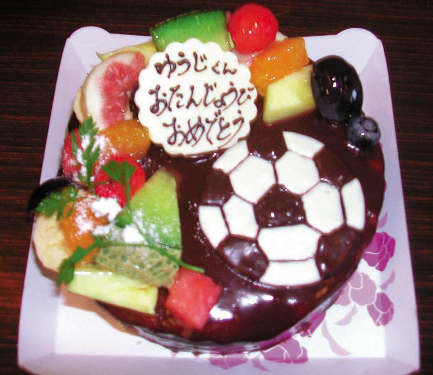 サッカーボールのバースデーケーキ